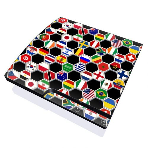 Soccer Flags PlayStation 3 Slim Skin