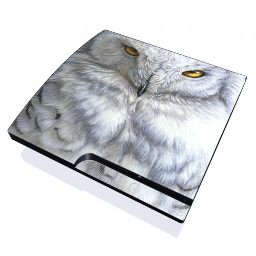 Snowy Owl PlayStation 3 Slim Skin