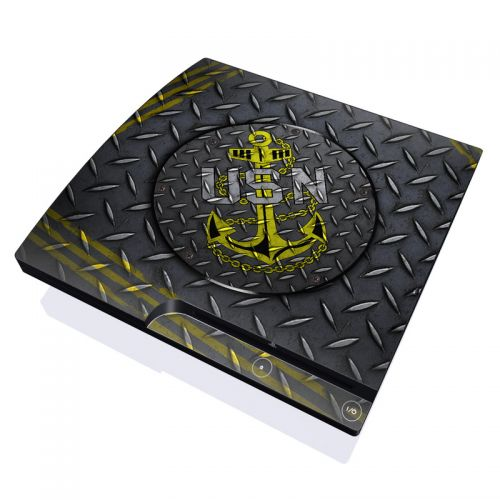 USN Diamond Plate PlayStation 3 Slim Skin