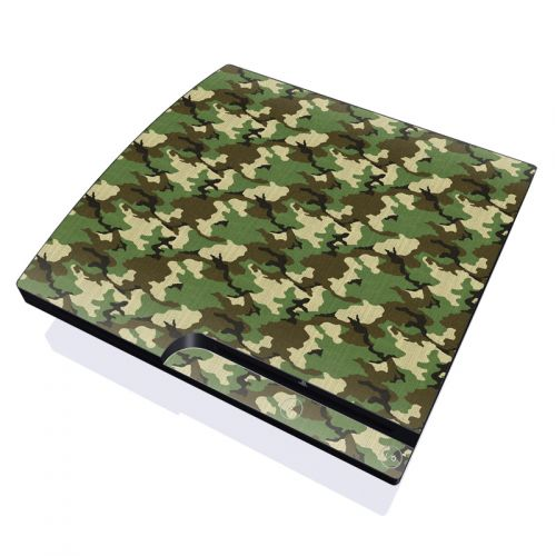 Woodland Camo PlayStation 3 Slim Skin