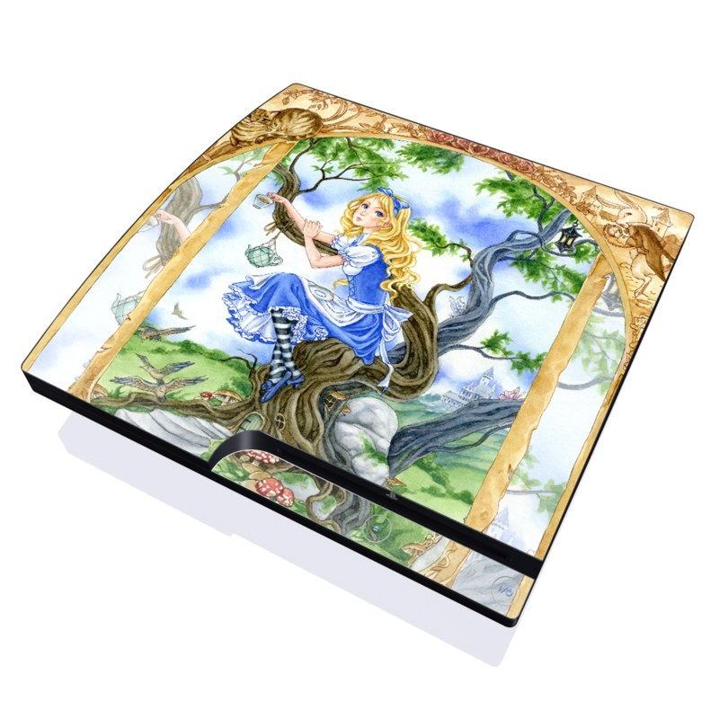 Alice's Tea Time PlayStation 3 Slim Skin