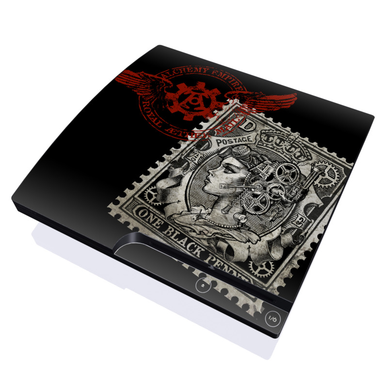 Black Penny PlayStation 3 Slim Skin