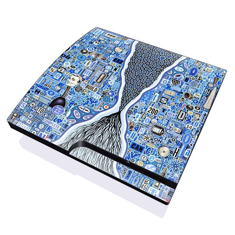 The Blue Thread PlayStation 3 Slim Skin