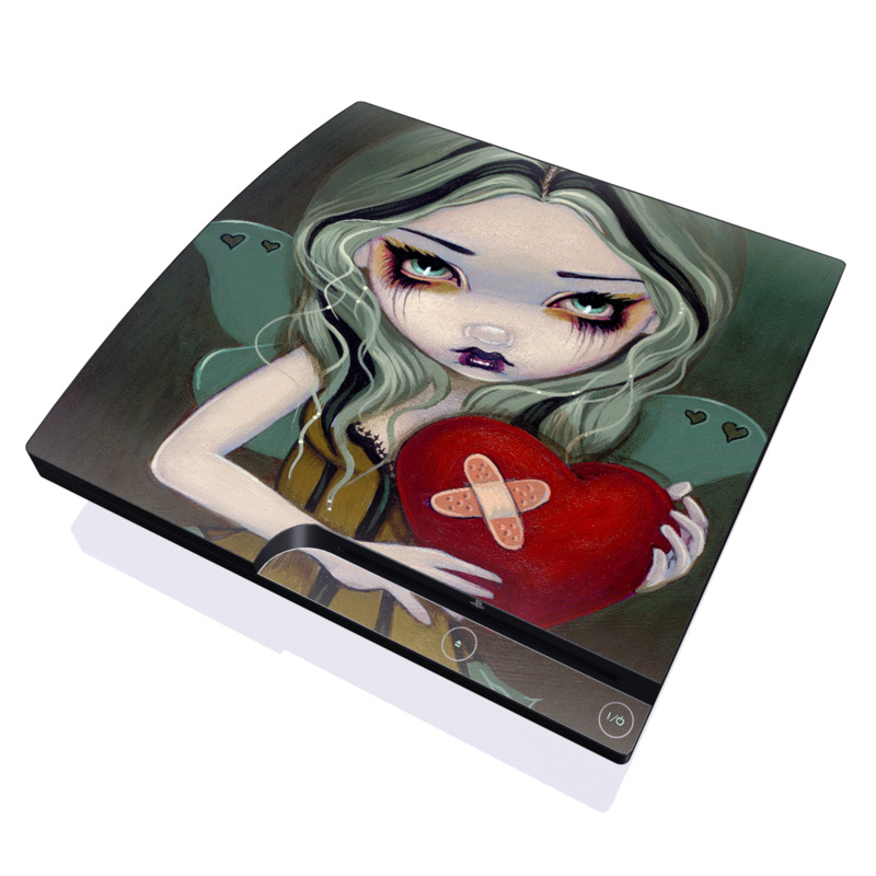 Broken Heart PlayStation 3 Slim Skin