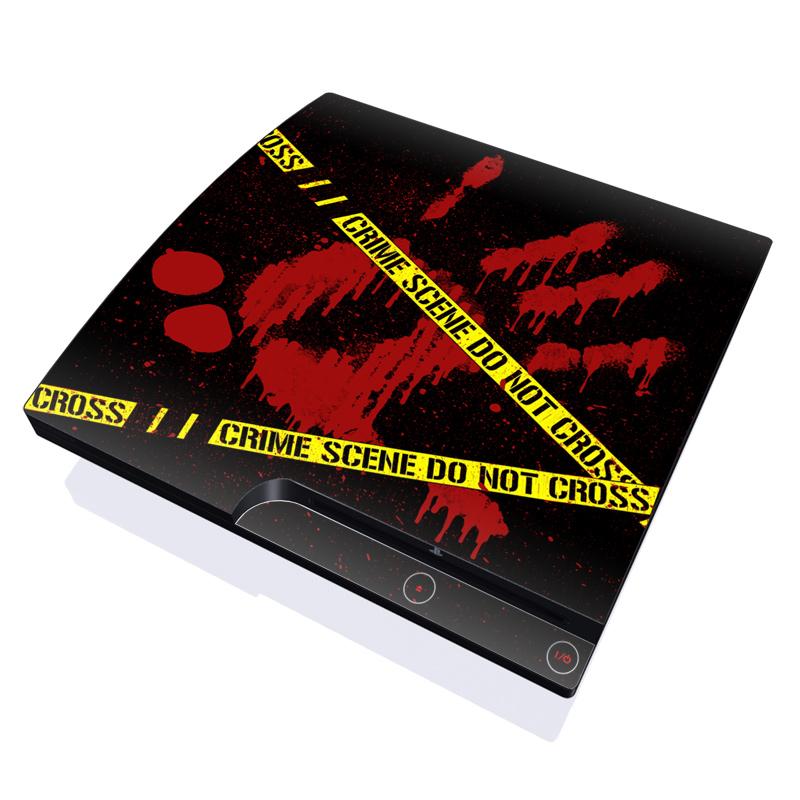 Crime Scene PlayStation 3 Slim Skin