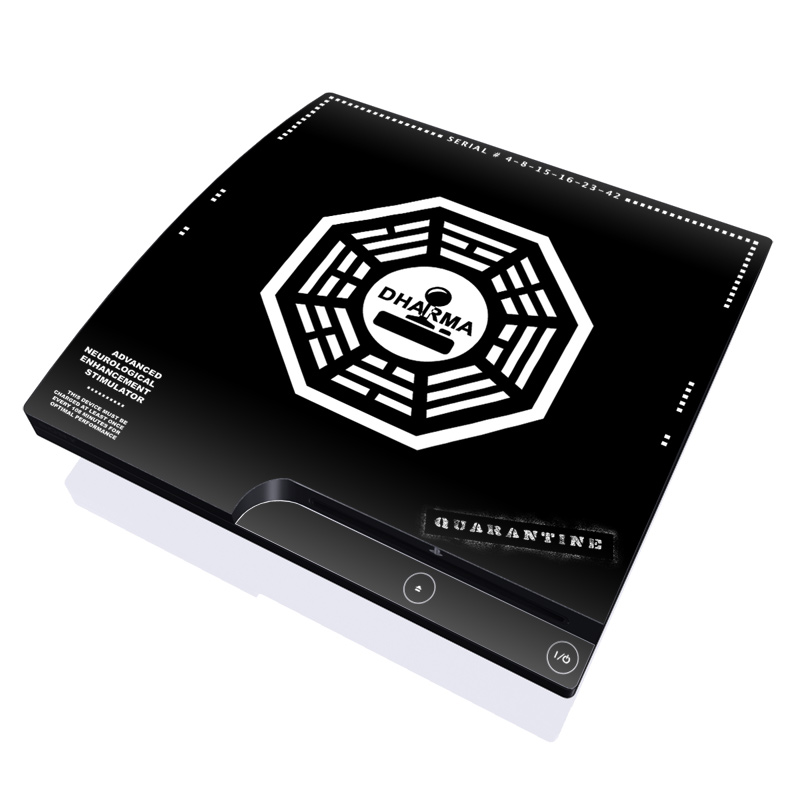 Dharma Black PlayStation 3 Slim Skin
