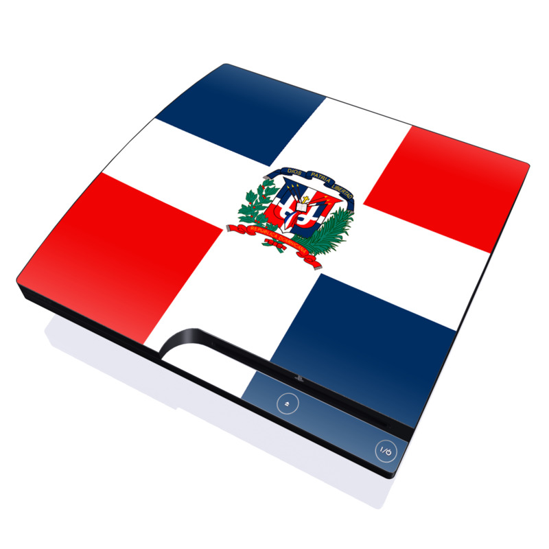 Dominican Republic Flag PlayStation 3 Slim Skin