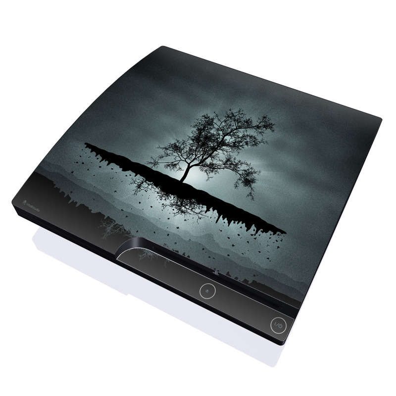 Flying Tree Black PlayStation 3 Slim Skin