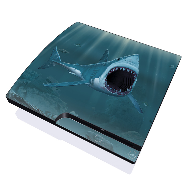 Great White PlayStation 3 Slim Skin