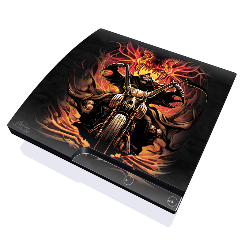Grim Rider PlayStation 3 Slim Skin