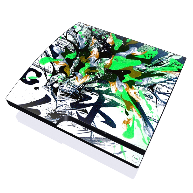 Green 1 PlayStation 3 Slim Skin
