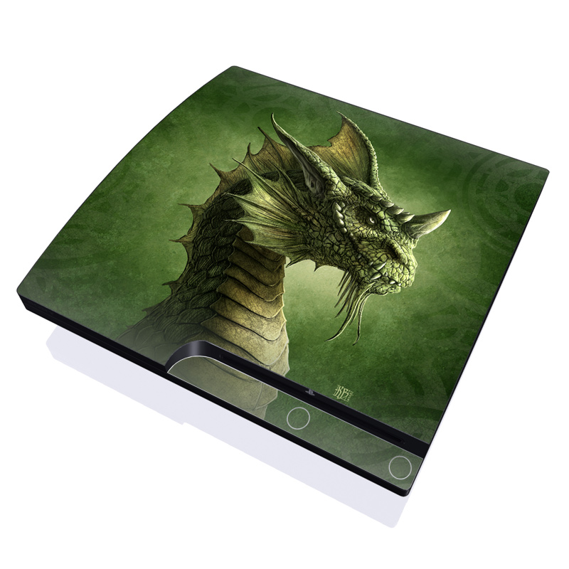 Green Dragon PlayStation 3 Slim Skin