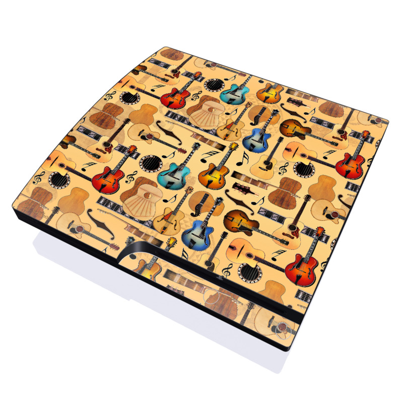 Guitar Collage PlayStation 3 Slim Skin