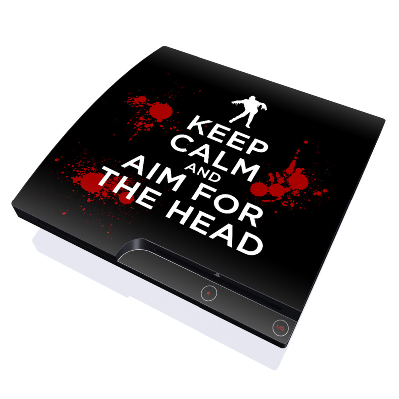 Keep Calm - Zombie PlayStation 3 Slim Skin
