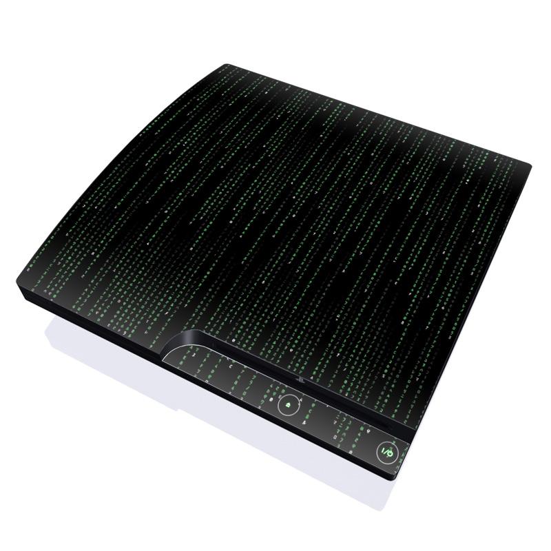 Matrix Style Code PlayStation 3 Slim Skin