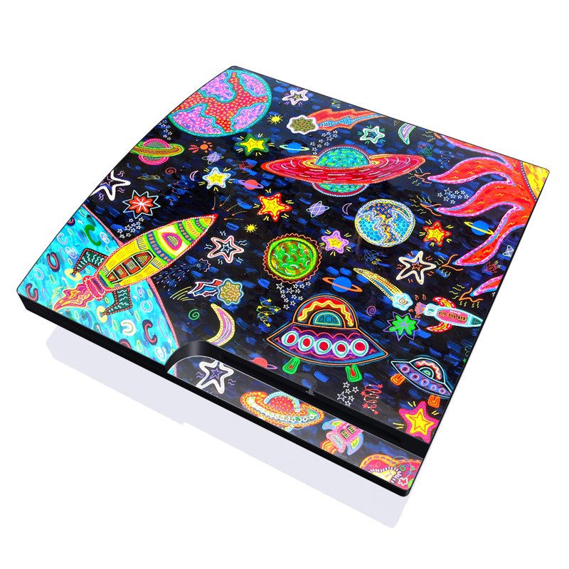 Out to Space PlayStation 3 Slim Skin