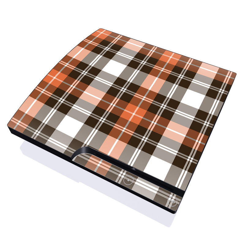Copper Plaid PlayStation 3 Slim Skin