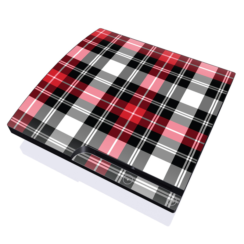Red Plaid PlayStation 3 Slim Skin