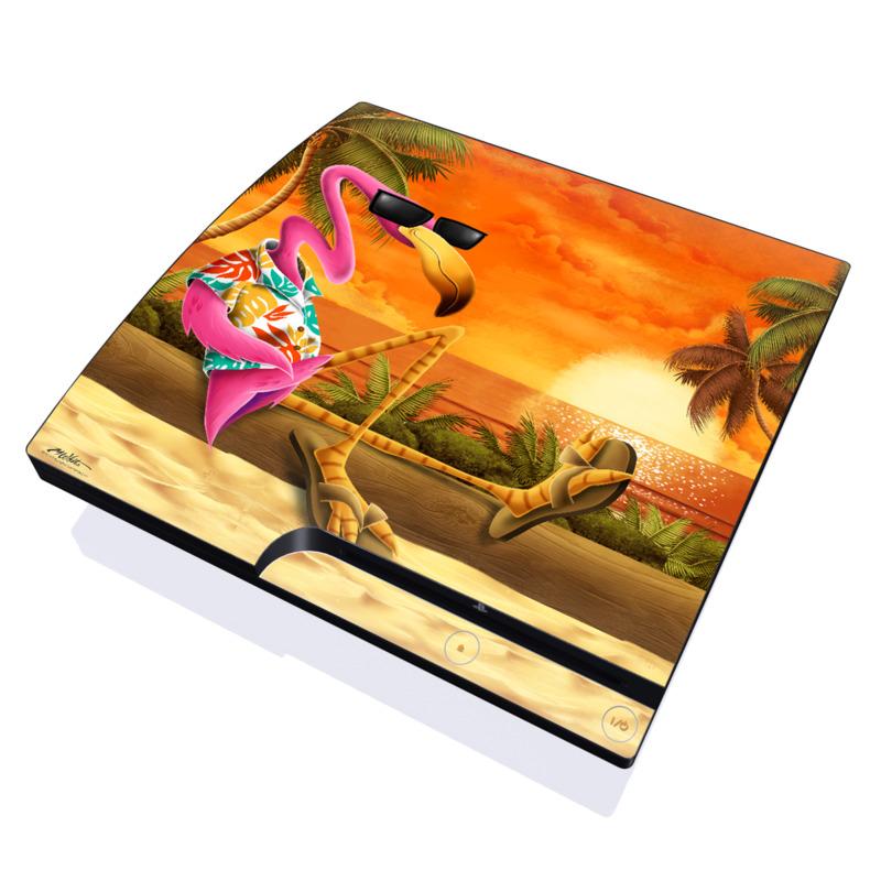 Sunset Flamingo PlayStation 3 Slim Skin