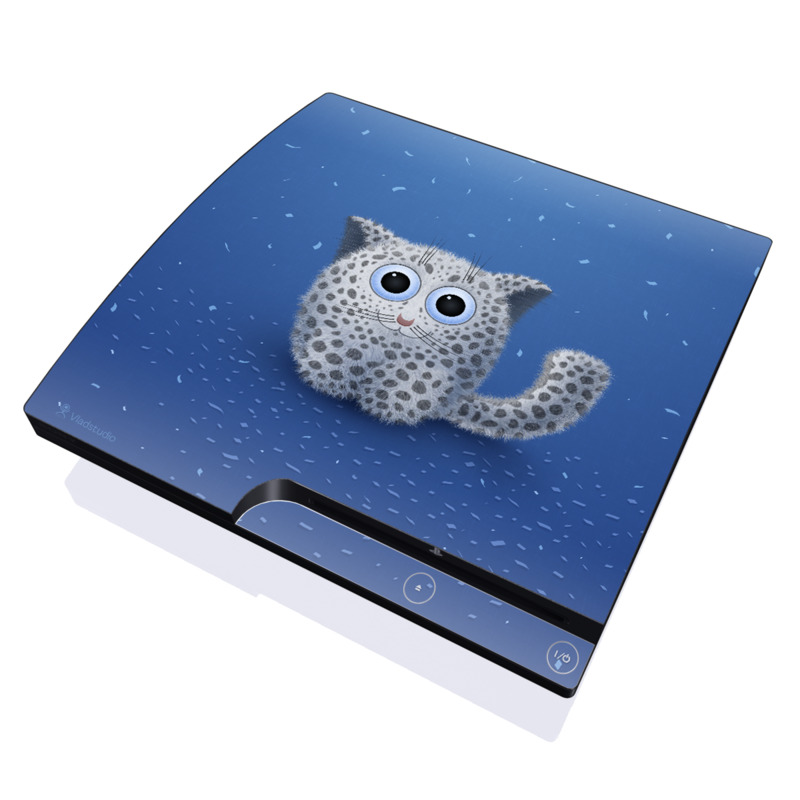 Snow Leopard PlayStation 3 Slim Skin