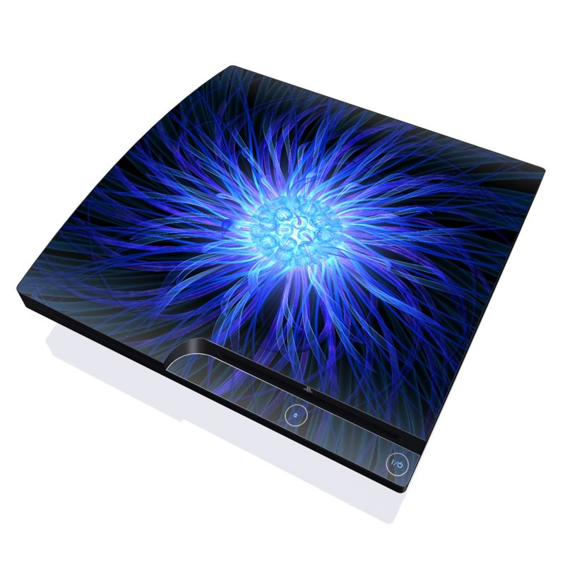 Something Blue PlayStation 3 Slim Skin