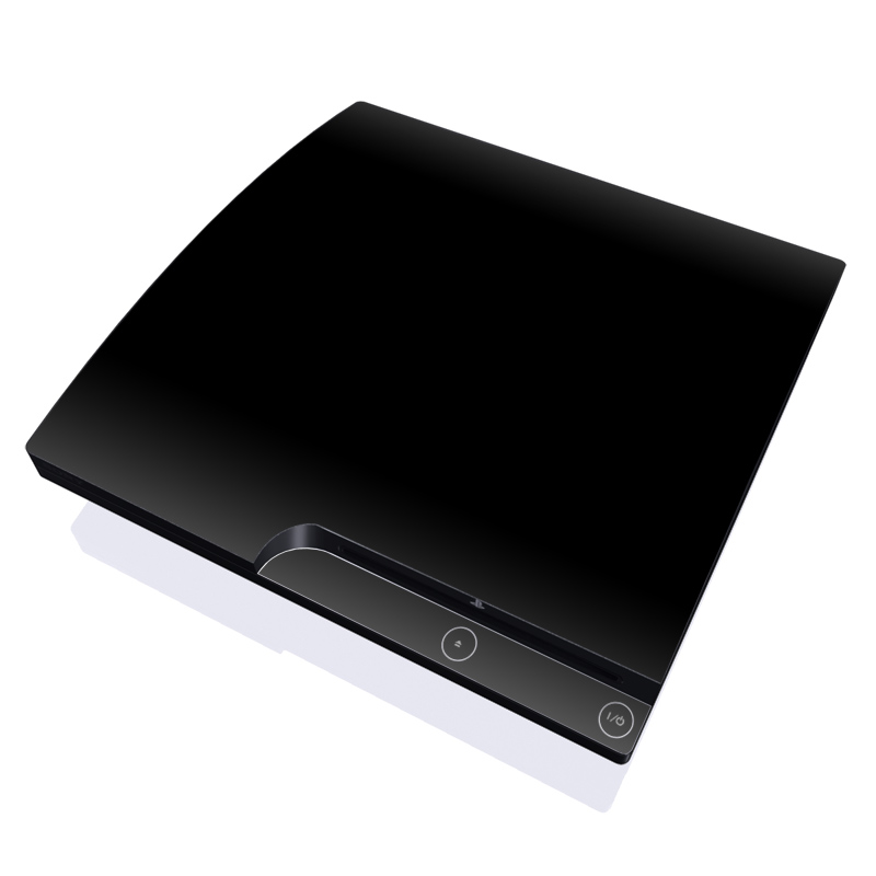 Solid State Black PlayStation 3 Slim Skin