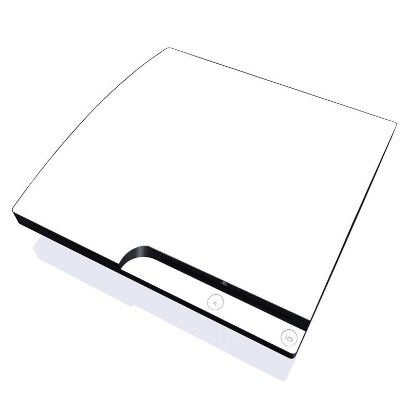 PlayStation 3 Slim Skin design of White, Black, Line with white colors