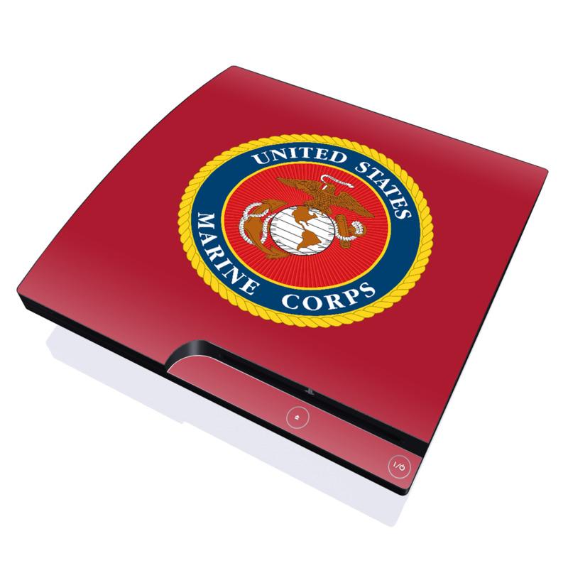 USMC Red PlayStation 3 Slim Skin