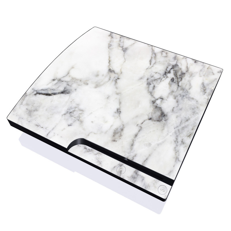 White Marble PlayStation 3 Slim Skin