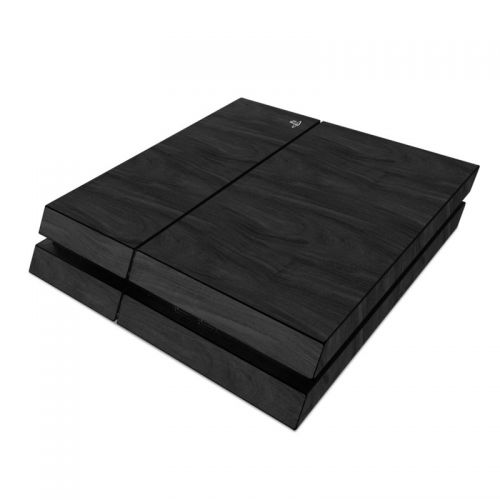Black Woodgrain PlayStation 4 Skin