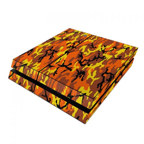 Orange Camo PlayStation 4 Skin
