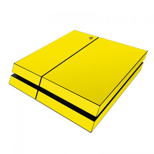 Solid State Yellow PlayStation 4 Skin