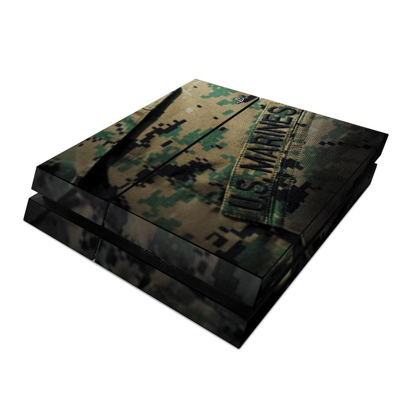 PlayStation 4 Skin design of Military camouflage, Military uniform, Camouflage, Pattern, Uniform, Green, Design, Military, Army, Airsoft with black, green, gray, red colors