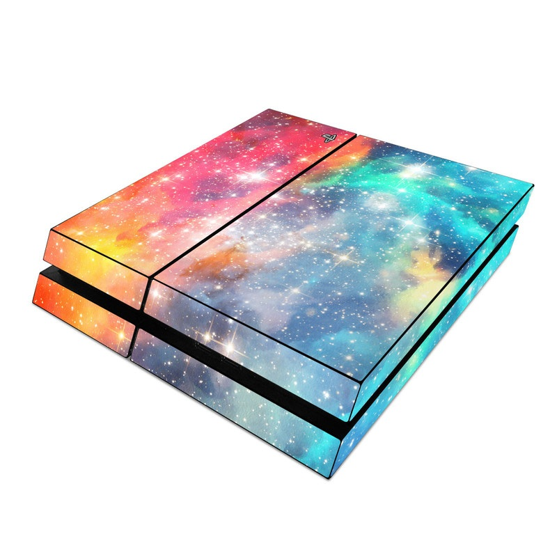 PlayStation 4 Skin design of Nebula, Sky, Astronomical object, Outer space, Atmosphere, Universe, Space, Galaxy, Celestial event, Star with white, black, red, orange, yellow, blue colors