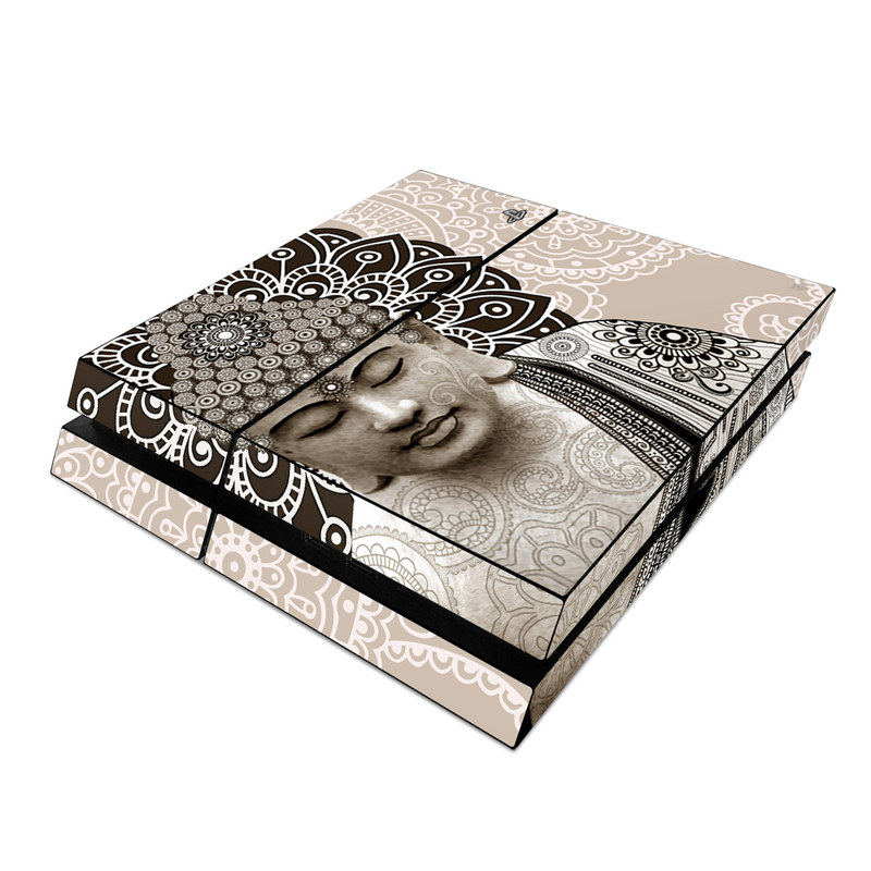 PlayStation 4 Skin design of Head, Illustration, Art, Visual arts, Design, Pattern, Stock photography, Drawing, Black-and-white, Tradition with gray, black, green, red colors