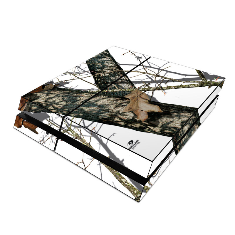 PlayStation 4 Skin design of Tree, Branch, Plant, Woody plant, Wildlife, Trunk, Adaptation with white, black, gray, green, red colors