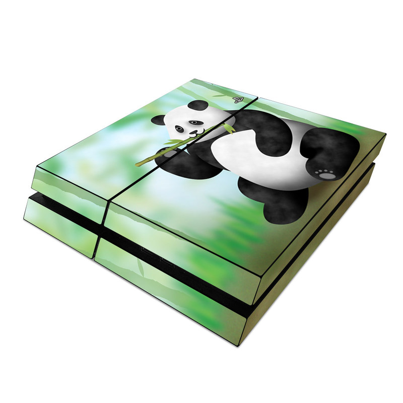 PlayStation 4 Skin design of Bear, Cartoon, Terrestrial animal, Snout, Animal figure, Illustration, Grass, Animated cartoon, Animation, Toy with gray, black, green, white, blue colors