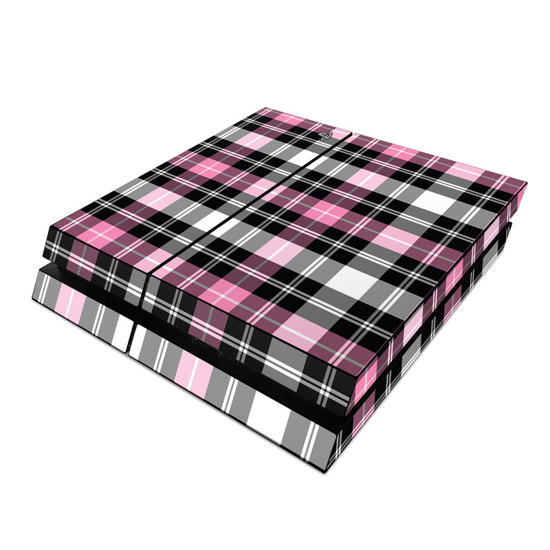 Pink Plaid PlayStation 4 Skin