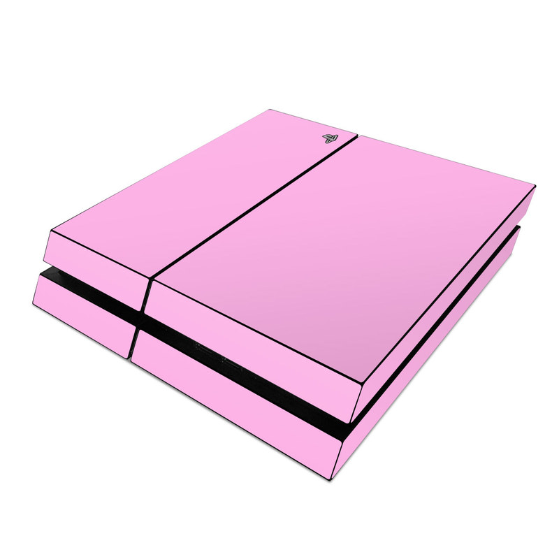 PlayStation 4 Skin design of Pink, Violet, Purple, Red, Magenta, Lilac, Sky, Material property, Peach with pink colors