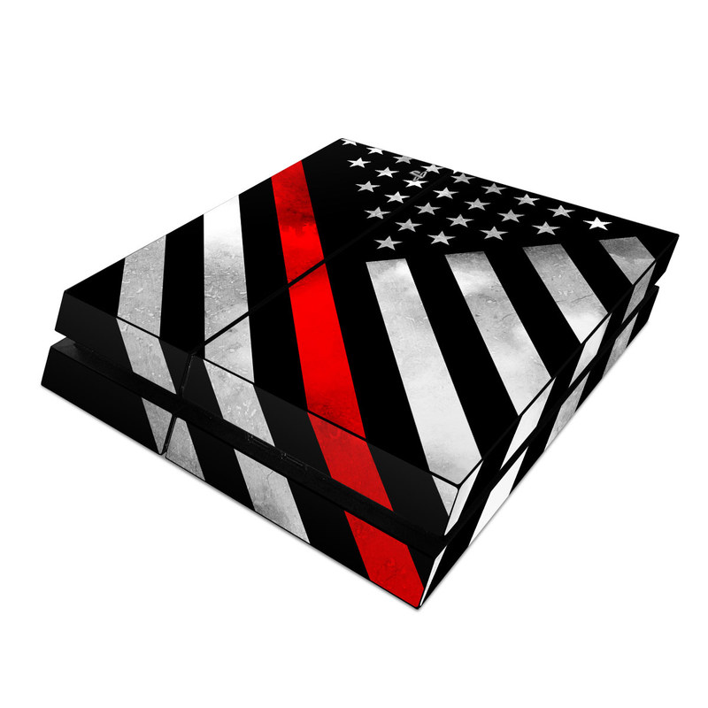 PlayStation 4 Skin design of Flag of the united states, Flag, Line, Black-and-white, Pattern, Flag Day (USA), Veterans day, Independence day, Memorial day with black, white, gray, red colors
