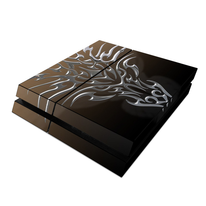 Tribal Dragon Chrome PlayStation 4 Skin