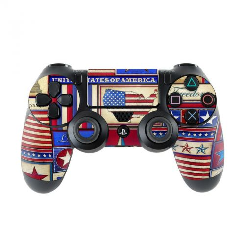 Flag Patchwork PlayStation 4 Controller Skin