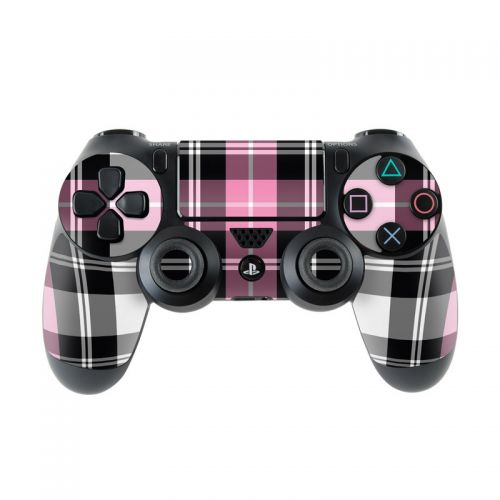 Pink Plaid PlayStation 4 Controller Skin