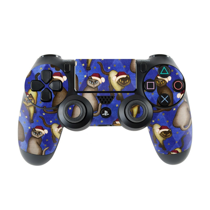PlayStation 4 Controller Skin design of Cartoon, Illustration, Animated cartoon, Animation, Ferret, Fawn, Rodent, Art with blue, black, gray, white, red, green colors