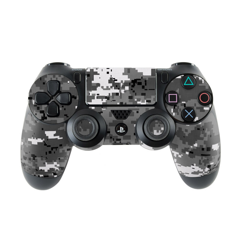 PlayStation 4 Controller Skin design of Military camouflage, Pattern, Camouflage, Design, Uniform, Metal, Black-and-white with black, gray colors