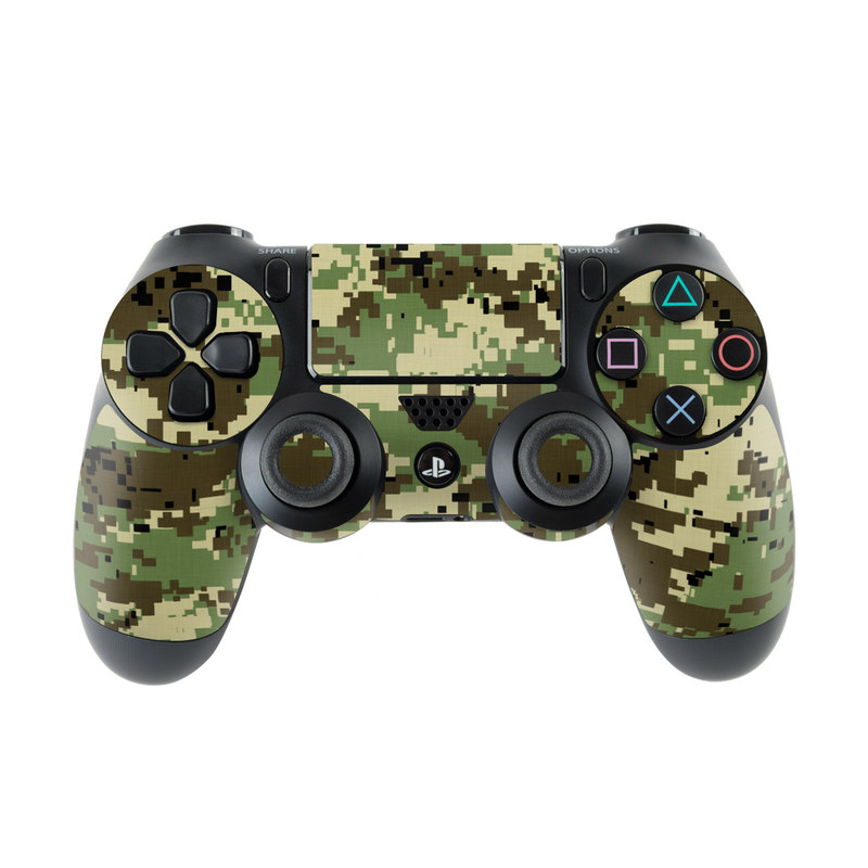 Digital Woodland Camo PlayStation 4 Controller Skin