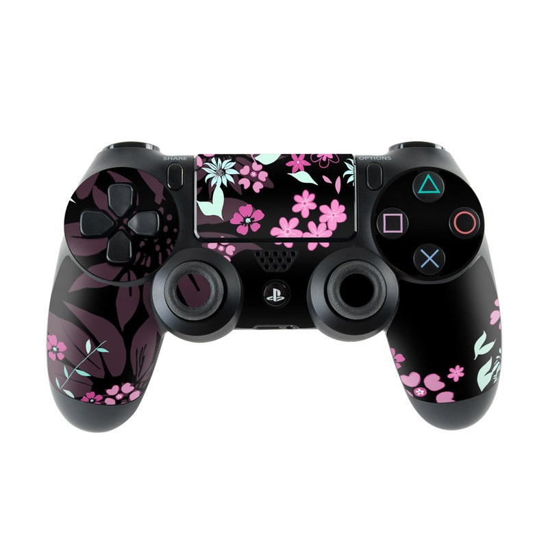 Dark Flowers PlayStation 4 Controller Skin