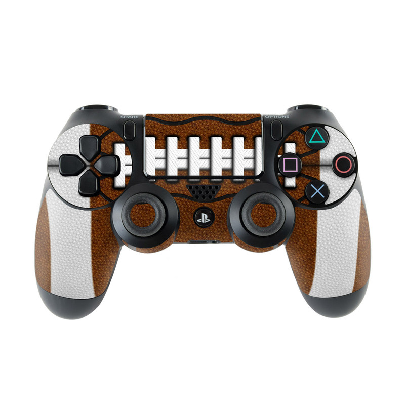 PlayStation 4 Controller Skin design of Brown, Beige, Pattern with black, gray, red, white colors