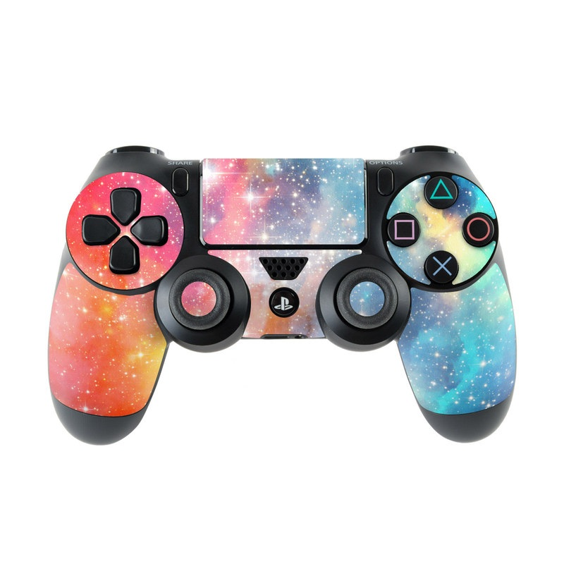 PlayStation 4 Controller Skin design of Nebula, Sky, Astronomical object, Outer space, Atmosphere, Universe, Space, Galaxy, Celestial event, Star with white, black, red, orange, yellow, blue colors
