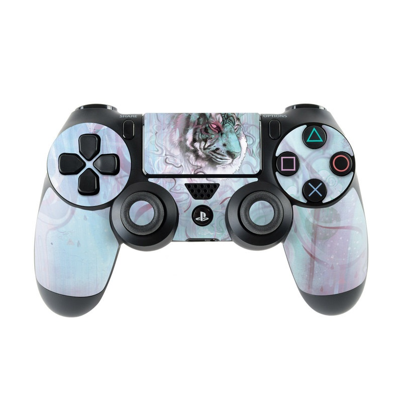 PlayStation 4 Controller Skin design of Watercolor paint, Illustration, Art, Visual arts, Drawing, Graphic design, Pattern, Painting, Acrylic paint, Fictional character with gray, purple, black colors